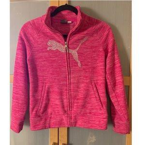 Girls Puma zip front fleece